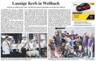 Flörsheimer Zeitung: Launige Kerb in Weilbach